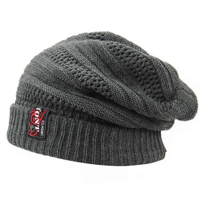 2016 New High Quality Autumn Winter Pillowtop Warm Wool Knitted Hat Skullies Hats For Women Men Beanie