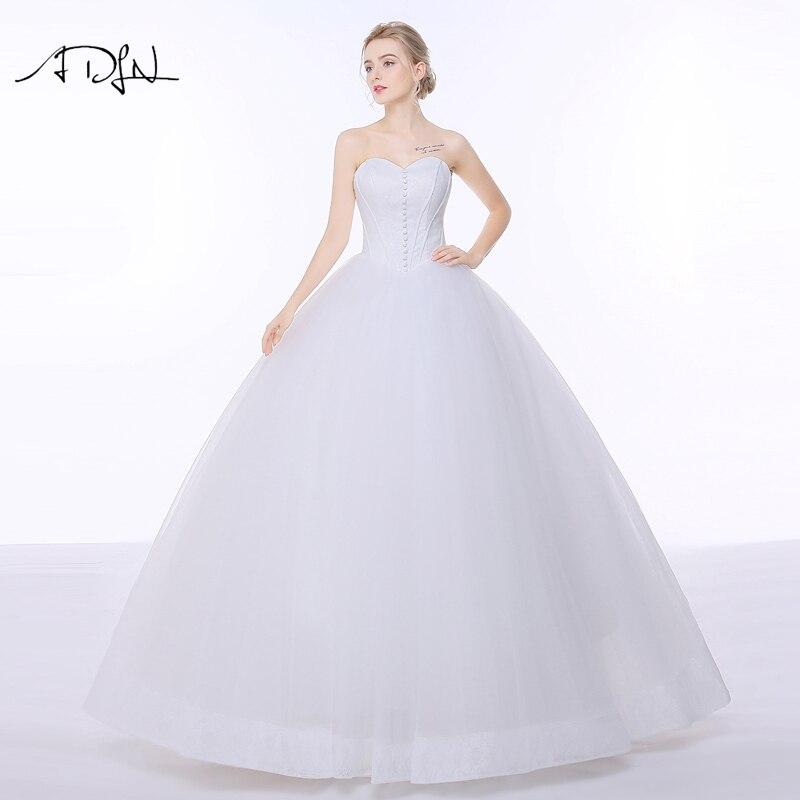 Adln Simple A Line Lace Corset Wedding Dresses Vestidos De Novia