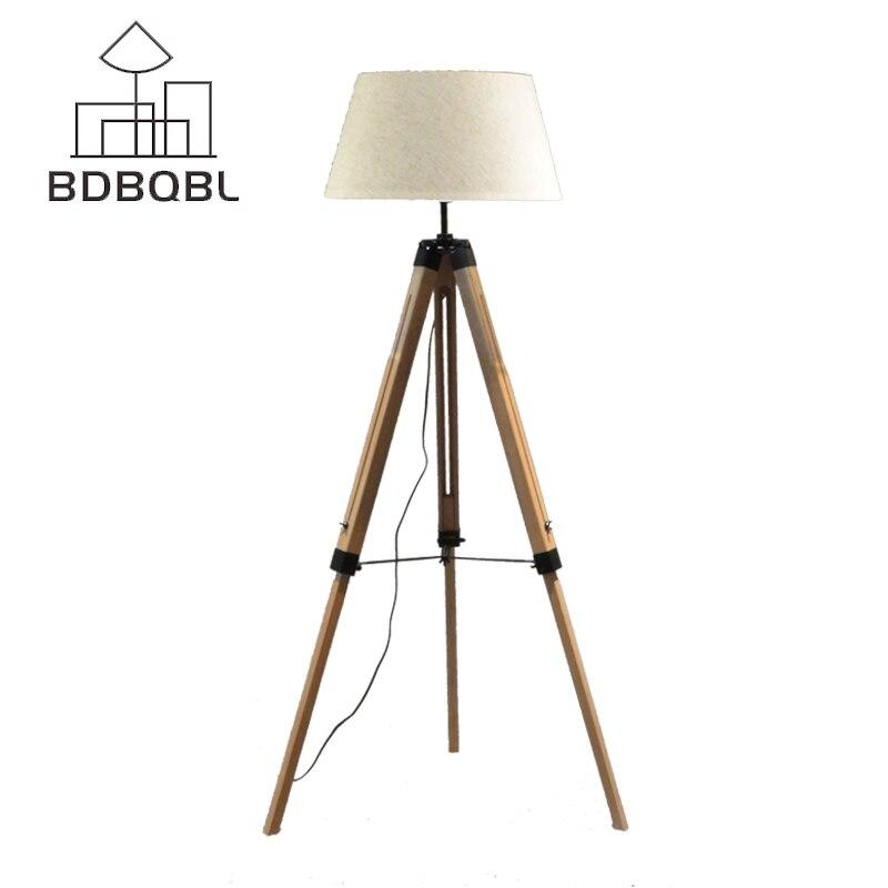 BDBQBL LED Stehleuchte Stoff Lampenschirm Holz E27 Nordic Europäischen  Rustikale Vintage Kunst Stil Dekoration Foyer/Home/Wohnzimmer Zimmer F 5