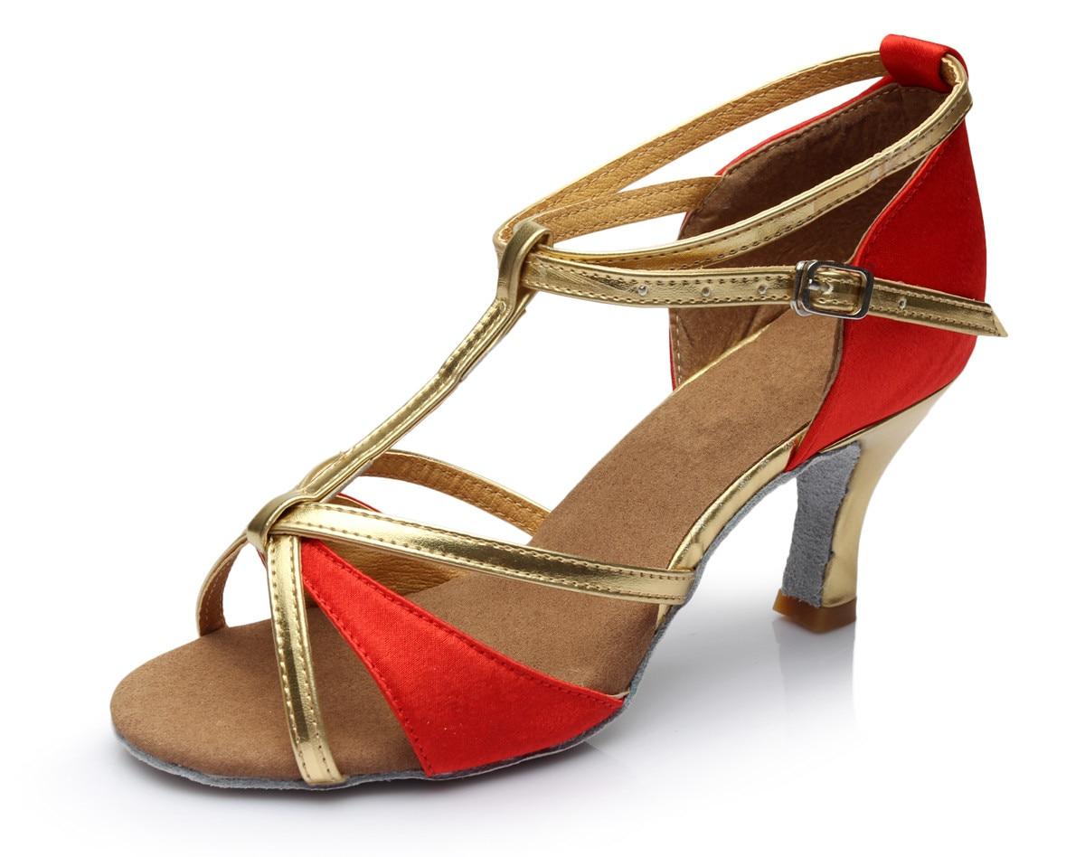 Hot Sale Girl s font b Women s b font Satin Leatherette Ballroom Tango Salsa Sandals