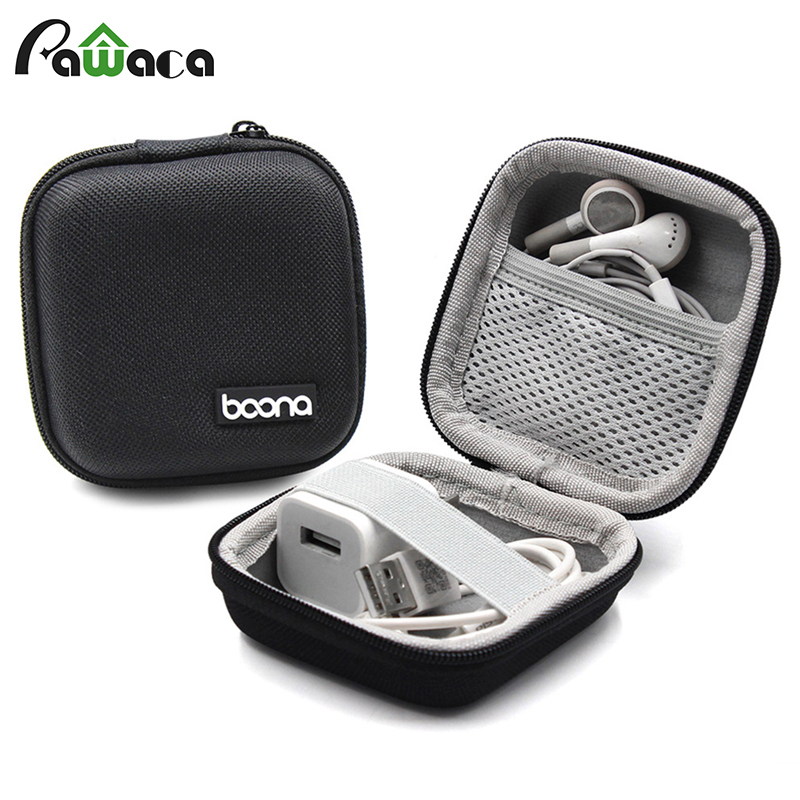 Portable Earphone Case Headphones Bag Headset Accessories Storage Bag Box Travel Cover Case for Earphone Earbuds Cable