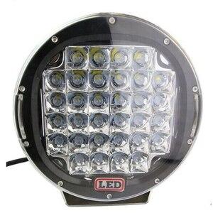 Image 4 - 2Pcs 9 אינץ LED עבודת אור בר 96W LED אור בר 12V 24V ספוט עבור 4WD 4x4 משאית קרוואן SUV Offroad סירת טרקטורונים נהיגה אור