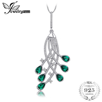 JewelryPalace 2ct Nano Russian Simulated Emerald Party Pendant 925 Sterling Silver Gift For Monther Girls Not Include the Chain