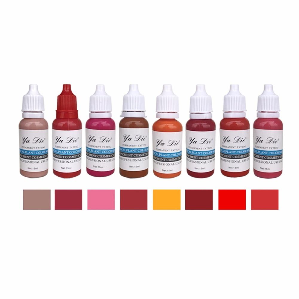 10Pcs/Pack South Korea Eyebrow&eyeliner& lip Permanent Makeup Tattoo ink brand Micro pigment Lasting Long 15ml cosmetics supply