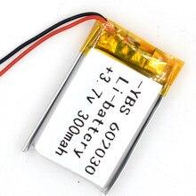 10pcs 3.7v 300 mah li-polímero bateria recarregável 602030 li po íon para gps bluetooth mp3 mp4 mp5 relógio 062030