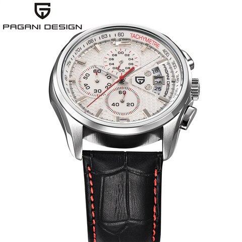 Men Quartz Watches PAGANI DESIGN Luxury Brands Fashion Timed Movement Military Watches Leather Quartz Watches relogio masculino Karachi
