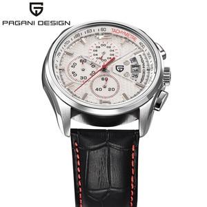 Image 3 - 男性クォーツ腕時計パガーニデザインの高級ブランドファッション時限マルチファンクションダイブ革クォーツ時計レロジオmasculino