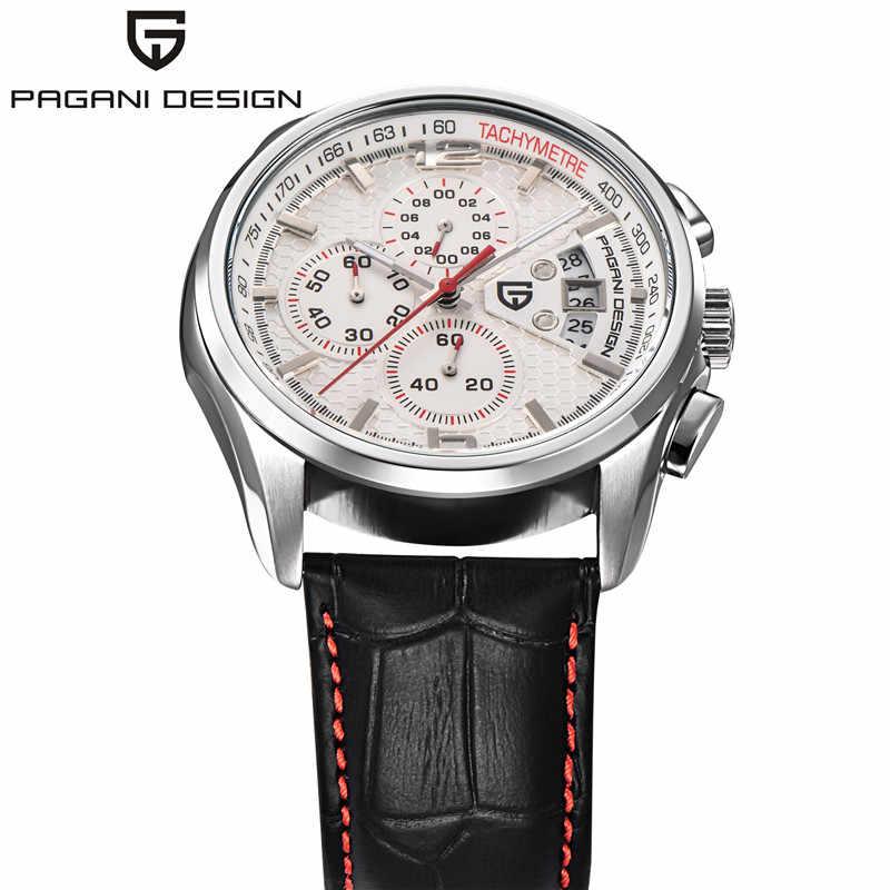 男性クォーツ腕時計パガーニデザインの高級ブランドファッション時限マルチファンクションダイブ革クォーツ時計レロジオmasculino