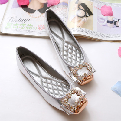 Fashion 2017 Women Ballerina Flats Rhinestone Slip On Women Flats Casual ladies flats shoes Plus size 35-43 odetina 2017 new women pointed metal toe loafers women ballerina flats black ladies slip on flats plus size spring casual shoes