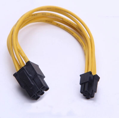 все цены на DIY For MAC / Motherboard Small Type 6Pin to PCI-E PCIe 6pin For Graphics Card Power Supply SHORT Cable Yellow онлайн