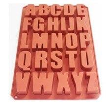 26 полости буквы алфавита силиконовые формы для изготовления мыла кубика льда для шоколада конфет мыла силиконовые формы 22*33,8*2,6 см торт форма для украшений E611