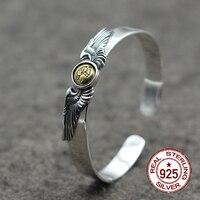 925 Ayar Gümüş Bilezikler Süs Uçan Kartal Pirinç Gerileme Hint Tarzı Basit Şık Erkek Kadın Hediye Sizin Gerçek Yeni
