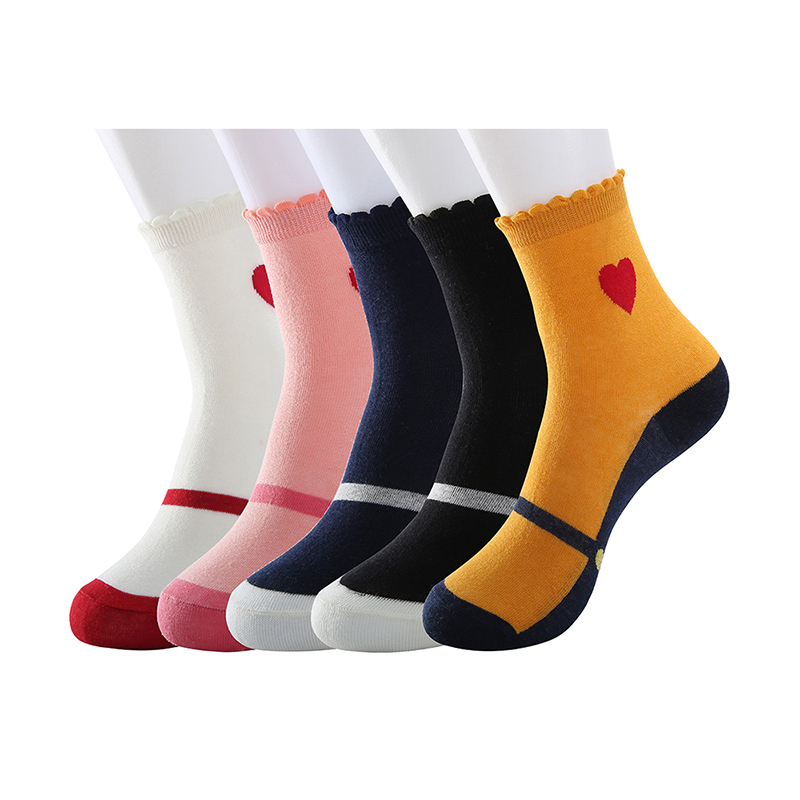Summer breathable cotton women 39 s socks love pattern gift fun crew cotton socks in Socks from Underwear amp Sleepwears