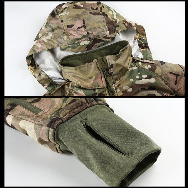 MEGE Men's Waterproof Military Tactical Jacket Men Warm Windbreaker Bomber Jacket Camouflage Hooded Coat US Army chaqueta hombre 5