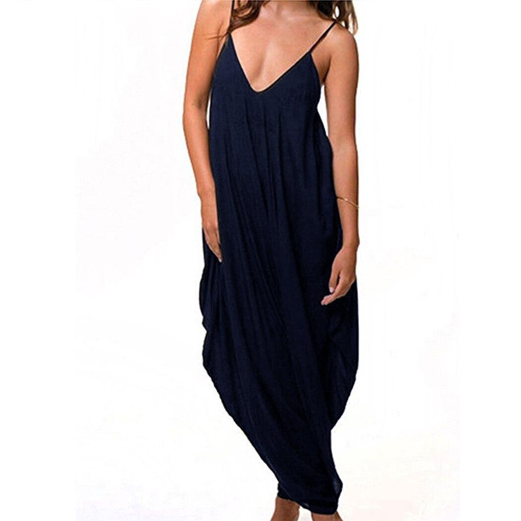 8502489f253 Sexy Women s Spaghetti Strap Plus Size Romper Baggy Harem Jumpsuit ...