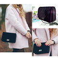 LALA IKAI Brand Suede Bag Chains Ladies Shoulder Bag Plaid Small Velour Flap Women Messenger Bags Leather Bags for Women BWB136