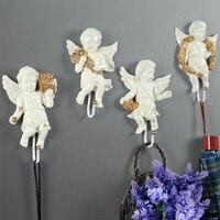 4Pcs/set European Angel Creative Resin Cupid Wall Hanging Decorative Wall Hook Wall Decoration Supplies Home Decorations R1252