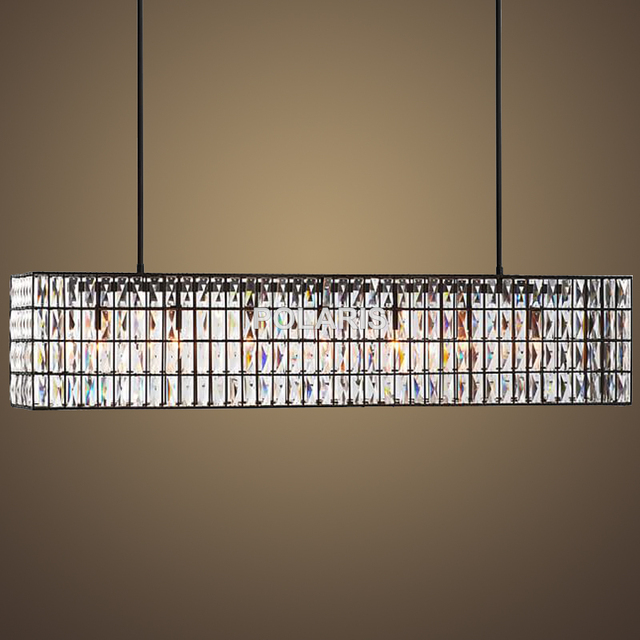 Factory Outlet Modern Crystal Chandelier Lighting Vintage Linear Cristal  Pendant Hanging Light For Home Dining Room