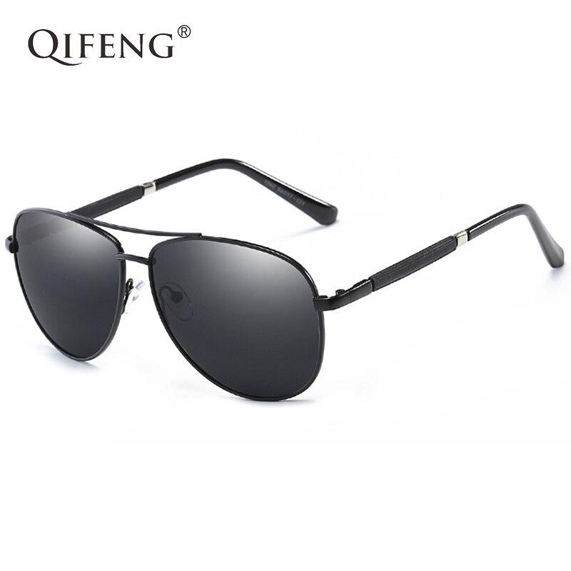 QIFENG Piloto Polarizada Motorista Óculos de Sol Da Aviação Para UV400  Óculos De Sol Dos Homens b8dafb0b5e