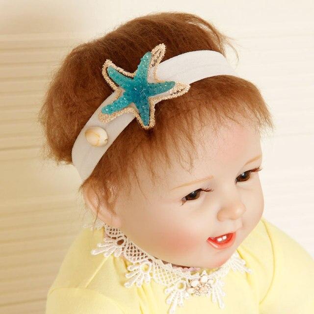 Free shipping Children s star beach headbands Baby girls fashion hairbands  princess photo pros hair accessories kids 31d6bdcd979