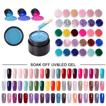 LEMOOC 5ml Glitter Shimmer UV Gel New 2019 Nail Art Tips 180 Colors UV LED Soak Off UV Gel Varnish Nail Gel Polish DIY Manicure