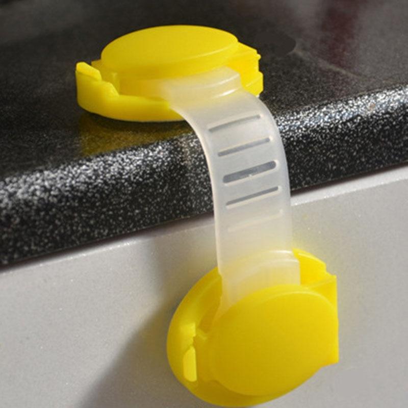 10 Unids de Seguridad Para Niños Cajón Armario Refrigerador Del Gabinete Cerraduras Correas Niños Puerta de Protección Del Bebé de Bloqueo De Plástico