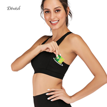 Diwish Womens Sports Bra High Stretch Breathable Sport Top Fitness Women Pocket Yoga Tops for Running Workout Bras