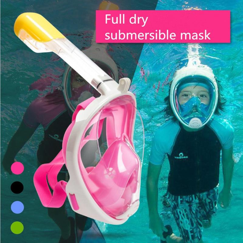 Children Full Face Snorkeling Mask Set Diving Underwater Swimming Training Scuba Mergulho Snorkeling Mask For Camera