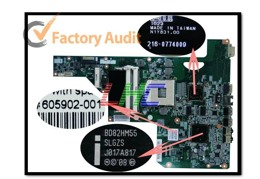 цена 605902-001 lap G62 I3 I5 I7 connect board connect with motherboard full test lap connect board