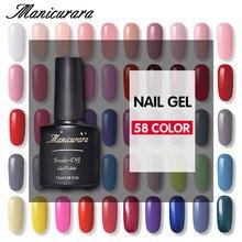 hot deal buy manicurara 58 color gel nail polish nail lacquer soak-off uv led gel manicure nail art need base top coat silver gold nail gel