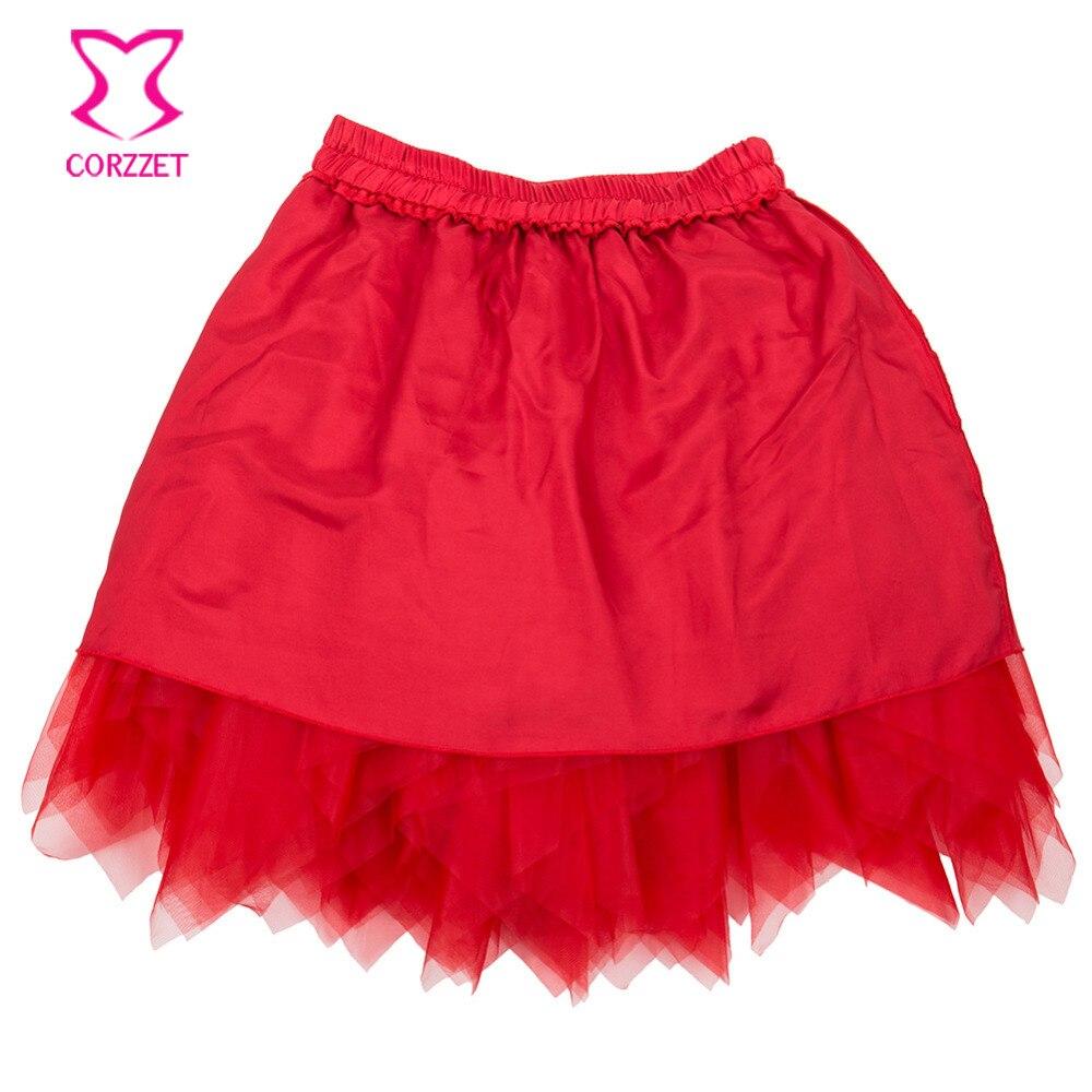 New Black with Pink Satin Burlesque Petticoat Ladies Costume Dancing Skirt