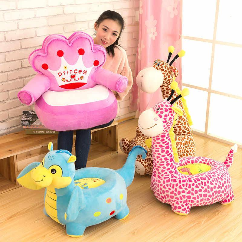 Творческий мультфильм детское кресло-диван спальная кровать детское гнездо Puff плюшевые игрушечные лошадки ленивый диван стул Дети игры Дива