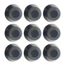 10Pcs 17 x 10mm Round Cabinet Black Rubber Instrument Case Feet Foot Circular TG
