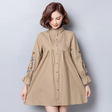 Embroidery Shirt Fashion Feminina