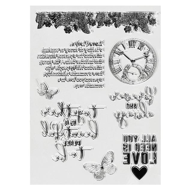 Neueste Schwarz Uhren Klare Stempel Plansatz Scrapbooking Transparent Karte Fertigkeit für Handgemachte DIY Tools Geschenk Liefert
