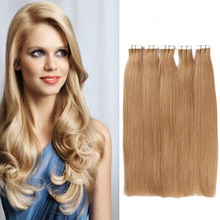 Cheap Tape In Human Hair Extension 20pcs/lot Straight Hair Blonde Color In Stocks Brazilian Virgin Hair Tape Hair Extension