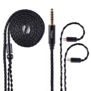 Image 3 - AK Yinyoo 8 ядра Модернизированный посеребренный Медь кабель 3,5 2,5 мм кабель для наушников с MMCX 2Pin для ZSTZS10AS10ZSX C12 V2 BLON TRN