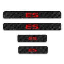 For Lexus ES Seires 4D Carbon Fiber Vinyl Sticker Car Door Sill Protector Scuff Door sill guard Plate Interior Car Accessories недорого
