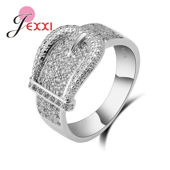 925 Sterling Belt Buckle Silver Ring