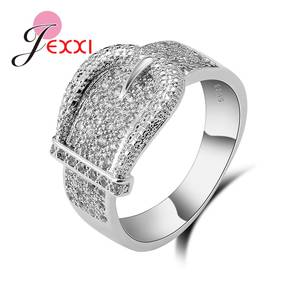 925-Sterling-Silver Rings Belt-Buckle Party-Accessories Cz-Stone Cubic-Zircon Design