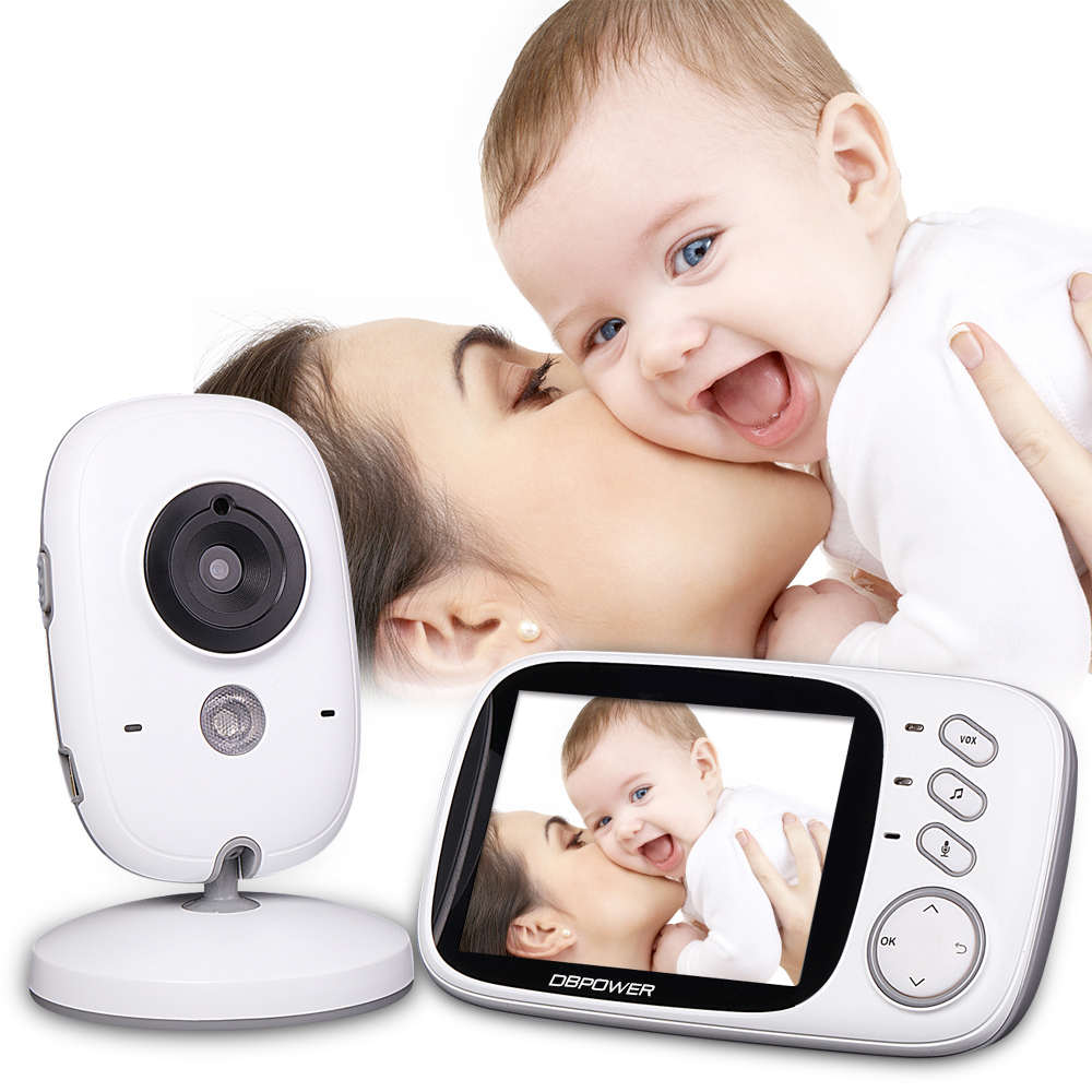 DBPOWER 2.4Ghz Wireless 3.2 inch Electronica Wireless Baby Monitor 2 Way Audio 5M IR Temperature Lullabies Portable Baby Camera