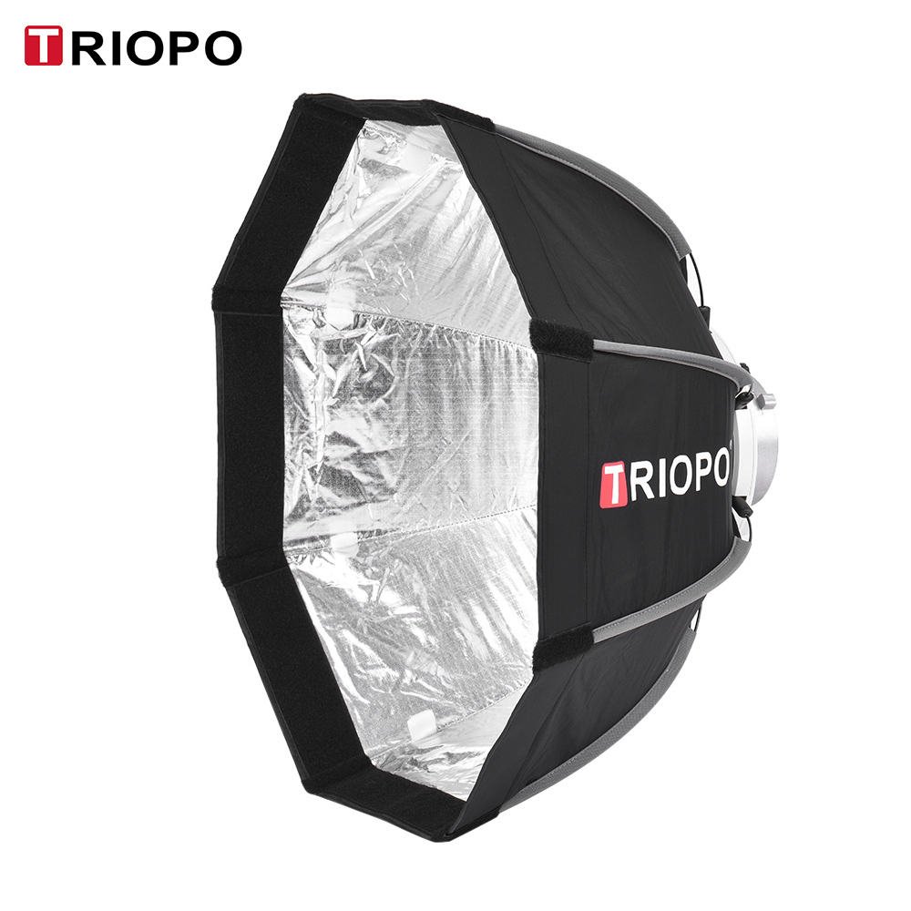 TRIOPO 65cm Portable Foldable 8 Pole Octagon Softbox w Carrying Bag Bowens Mount Light Box Tent