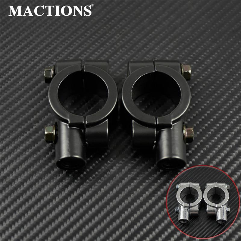 2Pcs/set Motorcycle 8mm 10mm 25mm HandleBar Mirror Mount Clamp Rear View Mirror Holder Bracket Black Silver