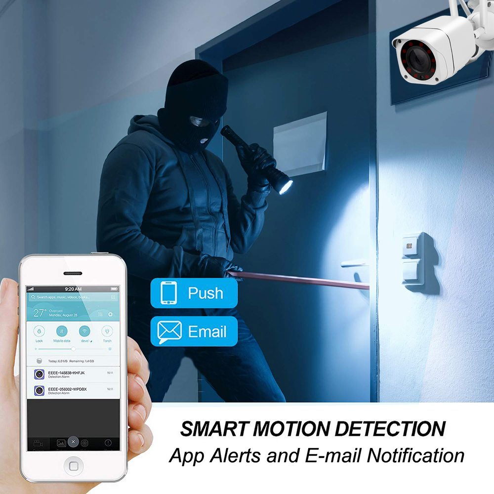 Image 2 - 3G 4G SIM Card Wireless IP Camera Outdoor 1080P Bullet Wifi Camera IR Night Vision Home Security Surveillance H.265 Format Cam-in Surveillance Cameras from Security & Protection