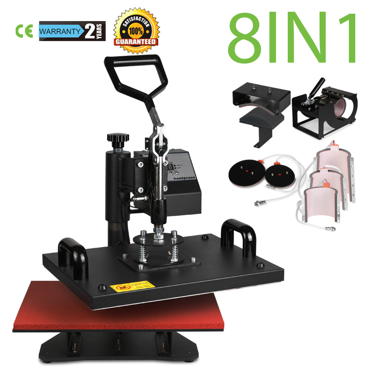 US STOCK VEVOR 12 X 15 Inch 8 In 1 Heat Press Digital LCD Controller T Shirts Press Machine Swing Away Design Heat Press Machine