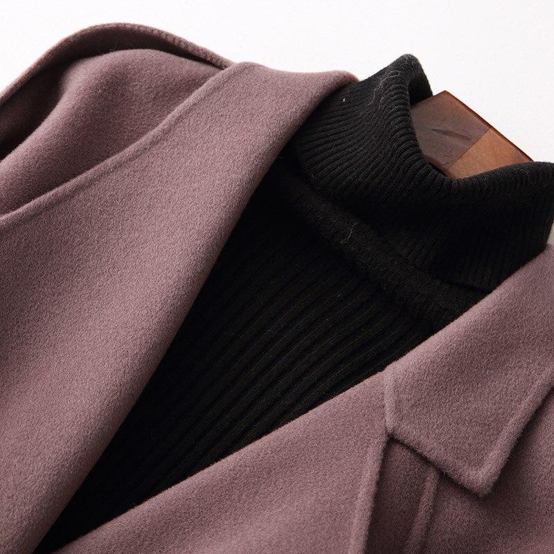 elegante koreanische Mantel Herbst Wollm weibliche Tcyeek Winter kurze Gesicht Frauen G ntel qSVUMzp