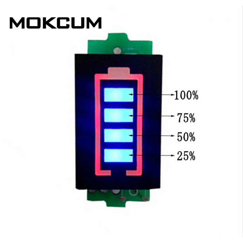 <font><b>2S</b></font> 2 Series Lithium <font><b>Battery</b></font> Capacity <font><b>Indicator</b></font> Module 8.4V Blue Display Electric Vehicle <font><b>Battery</b></font> Power Tester Li-po Li-ion image
