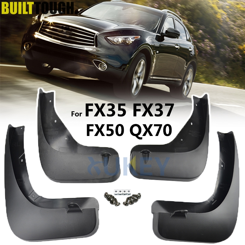 Mudflaps For Infiniti FX35 FX37 FX50 QX70 2009   2017 Mud Flaps Splash Guards Mudguards Front Rear 2011 2012 2012 2014 2015 2016-in Mudguards from Automobiles & Motorcycles