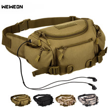 Unisex Camouflage Fanny Pack Waterproof Tactical Waist Bag Molle Bag Hiking Fishing Sport Hunting Bags Camping Sport Belt Bag(China)
