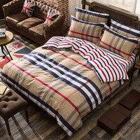 100% Cotton Bedding Set luxury 3/4pcs Family Set Include Bed Sheet Duvet Cover Pillowcase Room Decoration